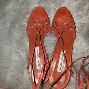 Manolo Blahnik Strappy Heels